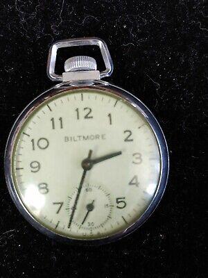 Vintage Biltmore mechanical wind-up pocket watch