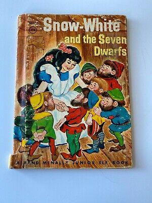 Vintage Snow White and the Seven Dwarfs Hardcover Rand McNally Junior Elf (Snow White And The Seven Dwarf Elves)