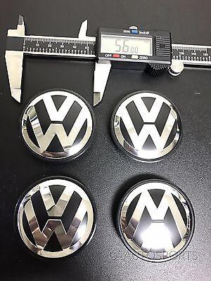 4Pcs 56Mm Wheel Hub Caps Logo Fit For Vw Volkswagen Golf Beetle Jetta 1J0601171