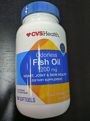Cvs Odorless Fish Oil 1200Mg   Total Omega 3 Fatty Acids 360Mg   60 Softgels