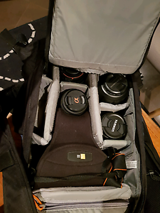 SONY A57 with 5 lenses and 2 bags Strathfield Strathfield Area Preview