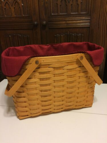 Magazine Basket Liner from Longaberger Paprika Fabric