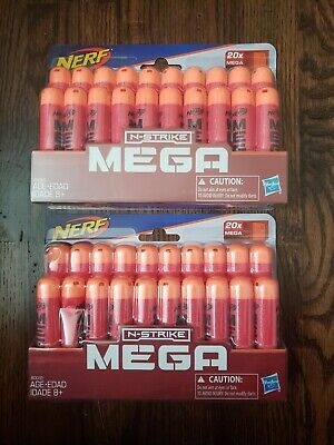 (2 pack) Nerf N-Strike Elite Mega Dart 20ct Per Pack, 40ct Total*