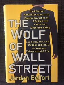 The Wolf of Wall street hardcover book