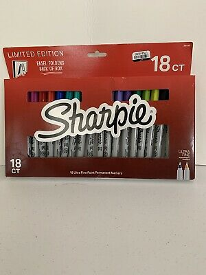 18 Sharpie Limited Edition Ultra Fine Point Permanent Marker Pens Box Set