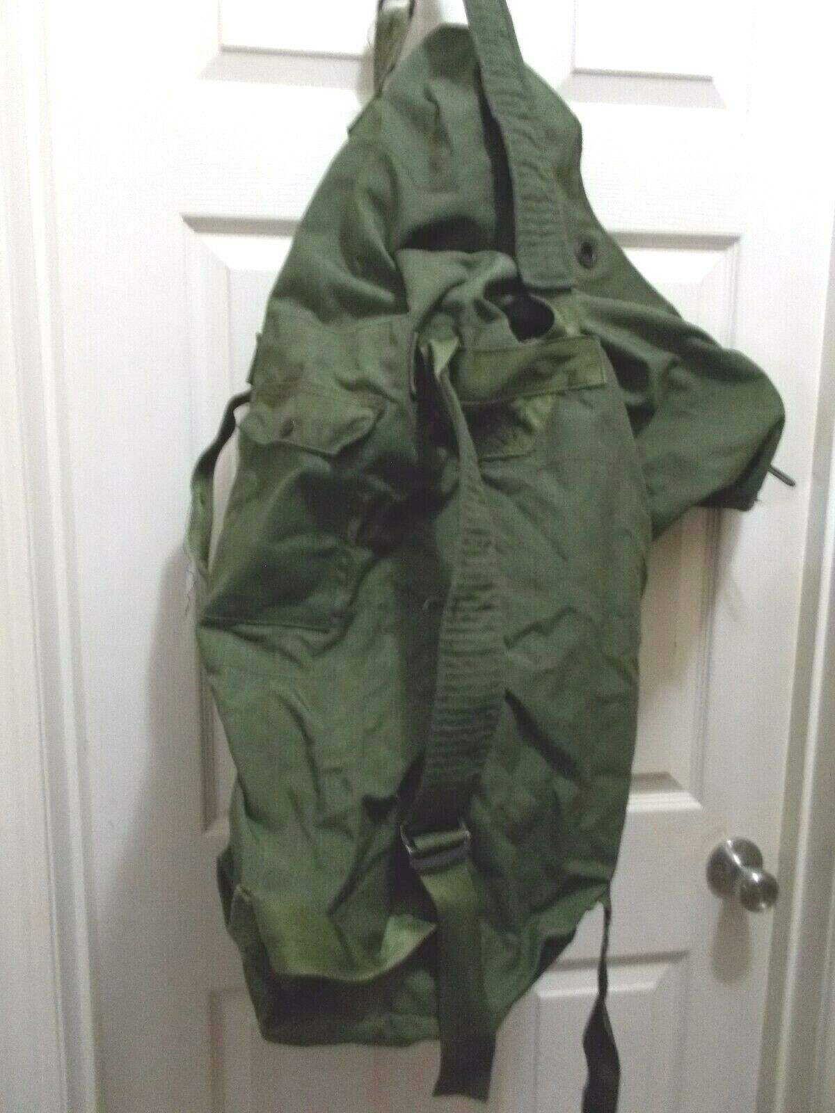 US NAVY Military Nylon Duffel Backpack Survival Sea Bag SP0100-99-0-0304 Etc.  - $29.50