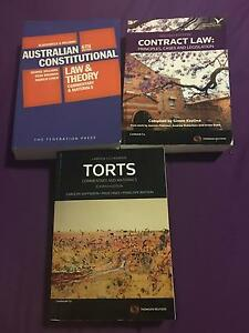 Law textbooks - Contracts, Torts, Constitutional Glen Alpine Campbelltown Area Preview