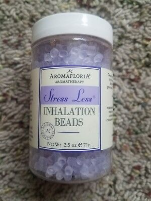 Aromafloria Stress Less Inhalation Beads Blend Of Lavender Chamomile 75ml/2.5oz 2.5 Ounce Inhalation Beads