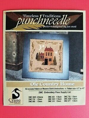 Timeless Traditions ~ PUNCH NEEDLE PATTERN ~ Ole Country Home Country Needle Embroidery