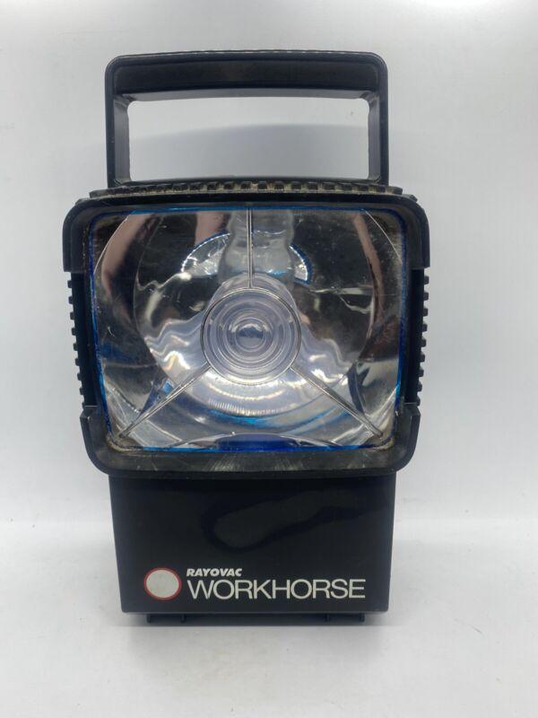 Vintage RAYOVAC WORKHORSE Lantern With Emergency Flash SEE PHOTOS