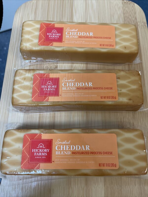 Hickory Farms Smoked Cheddar Blend Pasteurized Process Cheese (Pack of 3)
