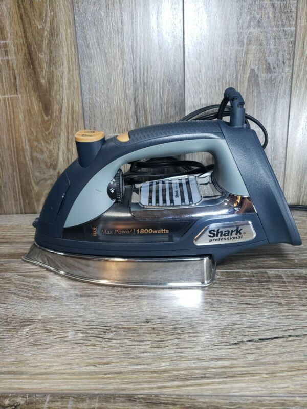 Shark Ultimate Professional Steam Iron with Cord, Silver Chrome, GI505WM - USED