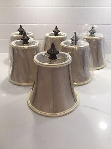 Six Chandelier Shades~6 Inch~ Brand New