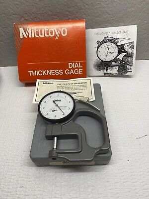 Mitutoyo 7326tx1 Dial Thickness Gage .0001-.050 Testex