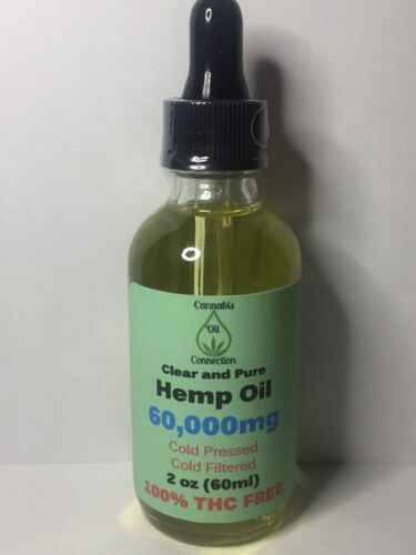 Hemp Oil 6000mg Clear & Pure *Free Shipping*