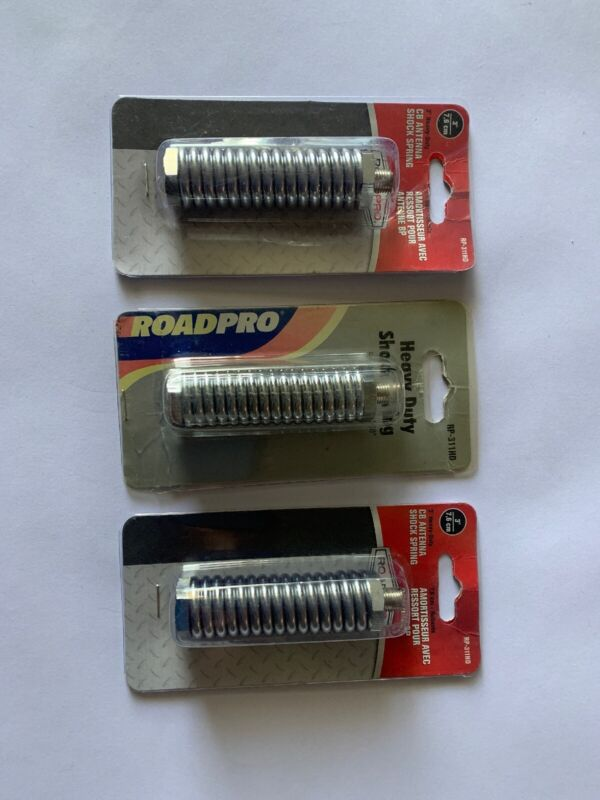 "ROADPRO RP-311HD 3"" Heavy Duty CB Radio Antenna Shock Spring (Lot Of 3) NEW"