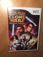 Star Wars the Clone Wars Republic Heroes  | For Wii | $10