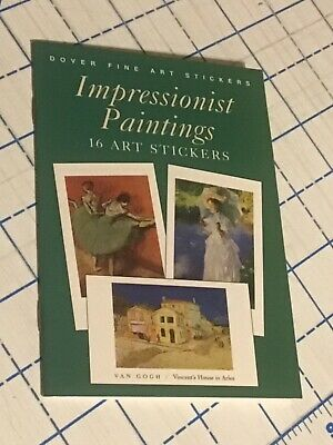 Impressionist Paintings 16 Dover Fine Art Stickers Book