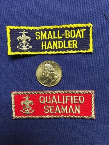OA BSA SEA SCOUTS SEA EXPLORING SMALL BOAT HANDLER QUALIFIDE SEAMAN