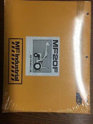 Nip Original Massey Ferguson Mf20f Tractor Loader Parts Manual Book 819738m2
