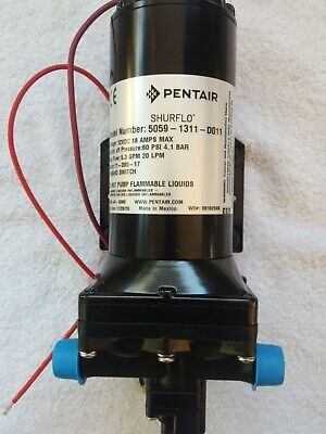 New Pump 12 Volt Shurflo 5059-1311-d011 Automatic Demand Switch 5.3 Gpm Pentair
