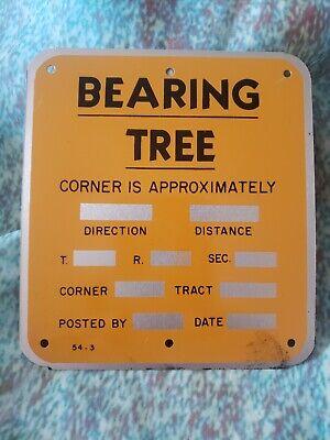 BEARING TREE  Survey Marker Sign  54-3