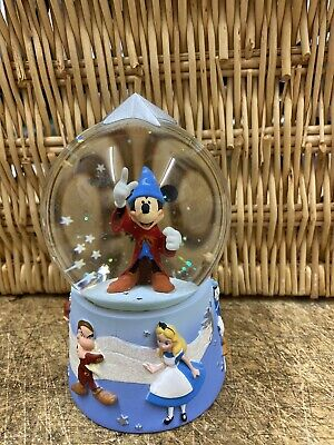 Disney Store Exclusive Sorcerer Mickey Mouse Snow Globe Bambi Grumpy Donald Duck