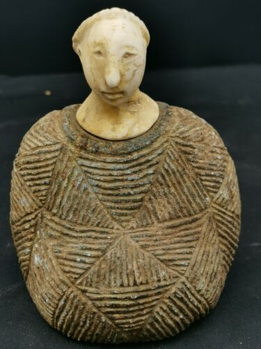 Bactrian very old chloride stone composite statue