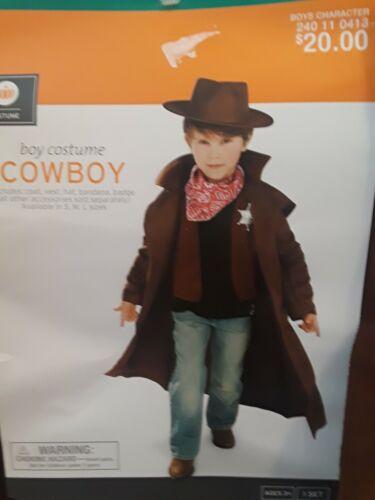 COWBOY Child Boy Halloween Costume Size M (6-8) NEW