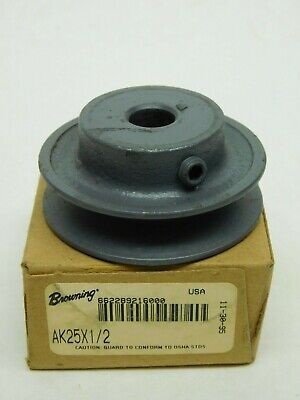 New Browning Ak25x12 V-belt Pulley 1 Groove 0.500 Bore 2.3 Pitch 2.50 Od Lv