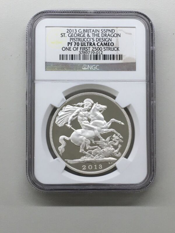 2013 G. Britain S5PND NGC PF70 UC St George & The Dragon 1 of First 2,500