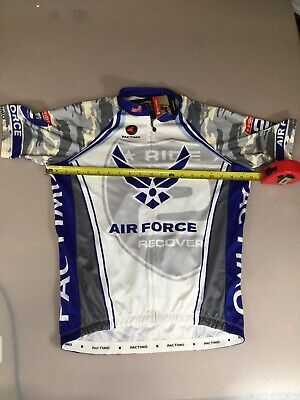Pactimo Mens Size Medium M Cycling Jersey Air Force  (6910-48) Air Force Cycling Jersey