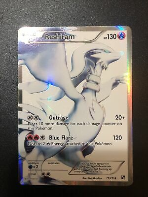 Reshiram - 113/114 - Ultra Rare Black & White 1: (Base Set) Pokemon Card RARE