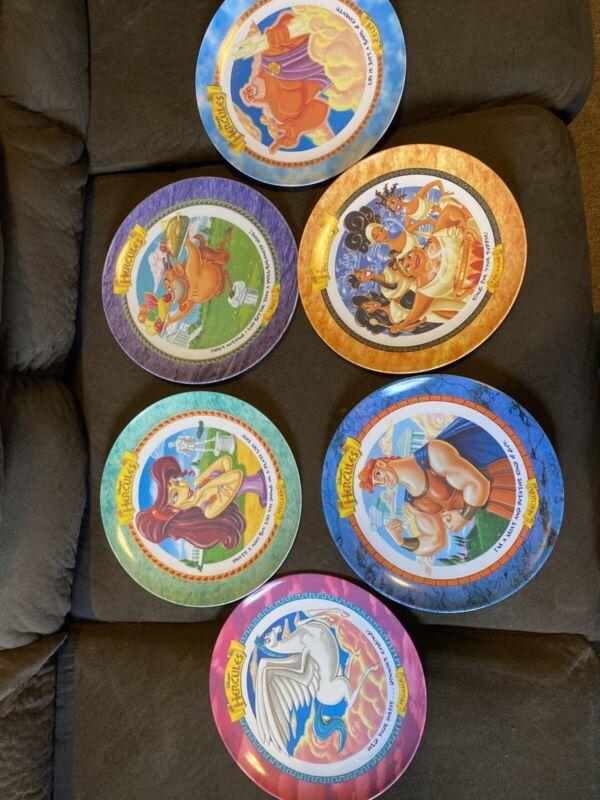 1997 Disney McDonalds Hercules Complets Set Of 6 Plates New