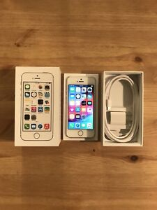 Apple iPhone 5S 16GB, Silver/White, Unlocked, Great Condition
