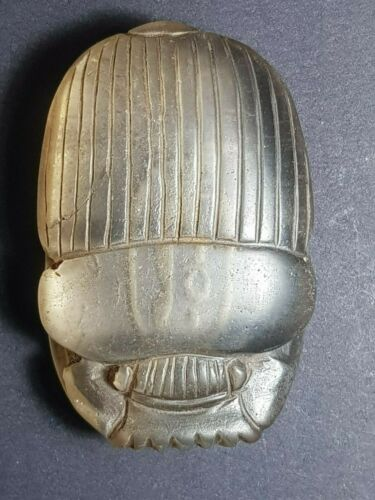 Neareastern egyption old lovely  symbol inscription crystal scarab seal amuelt