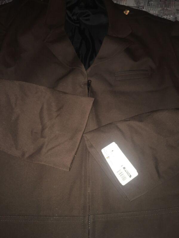 SF MUNI Railroad Operator Driver Brown Uniform Coat Jacket Sz 50R Men's New NWT