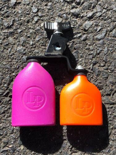 Latin Percussion LP double mounted Sambango bells jam blocks purple orange