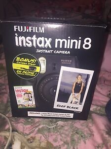 Black instax mini instant camera