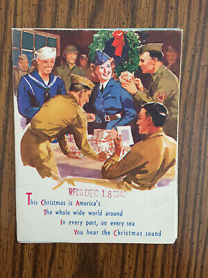 WWII Military Soldier Christmas Card Bethlehem Star Beaumont Broadcasting Texas