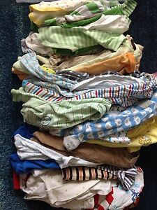Lot of 30-40 baby boy clothes 0-3m, 3-6m and a few newborn