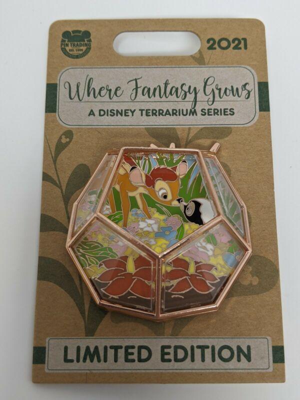Disney Parks Bambi Thumper Terrarium Series Where Fantasy Grows Le Pin