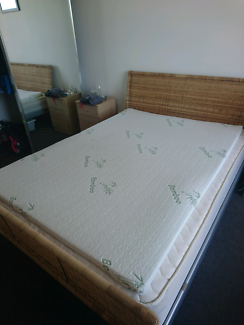 Memory foam topper (double) w/ bamboo cotton cover