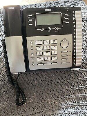 Vintage Rca 4 Line Telefield Business Phone. Model 25424re1-a. Sno. 800090948