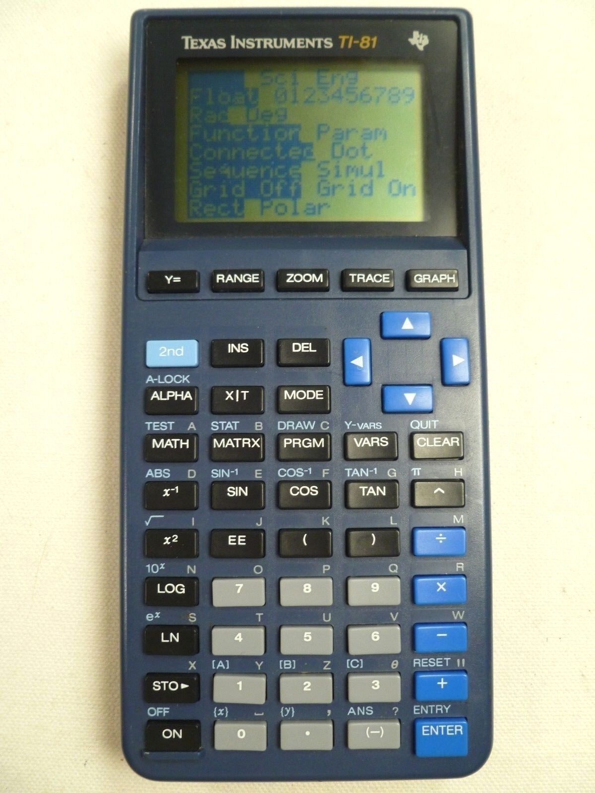 Texas Instruments TI-81 Graphics Calculator Tested Working Office School Supply