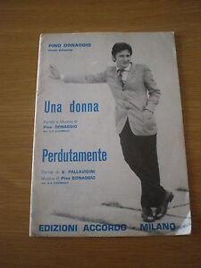 SPARTITO-MUSICALE-d-039-epoca-PINO-DONAGGIO-Una-donna-Perdutamente-SHEET-MUSIC-SCORE