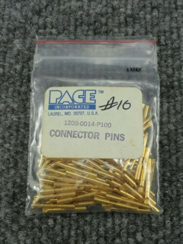 New PACE 1205-0014-P100 Connector Pins Bag of (100)