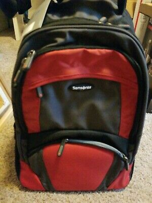 Samsonite Wheeled Backpack 17878, Black/Orange NEW! Ships Daily