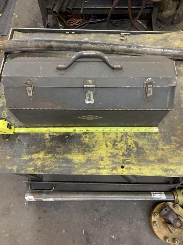 Vintage old antique s&k s-k sk tool box toolbox metal sherman-klove co usa rare