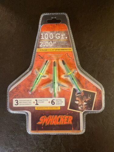 Swhacker Mechanical Broadheads Expandable 100 Grain 2inch Cut